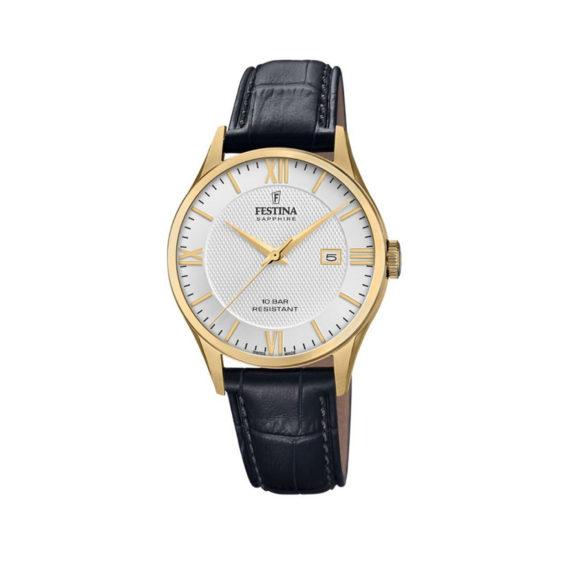 Festina Swiss Made Gold Men's Watch F20010 2 Jewelor