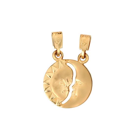 Μενταγιόν Άλλο Μισό Χρυσό Διπλής Όψης 14Κ 003213 2 Jewelor