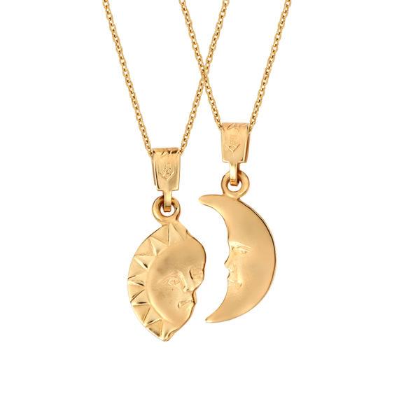 Μενταγιόν Άλλο Μισό Χρυσό Διπλής Όψης 14Κ 003213 Jewelor