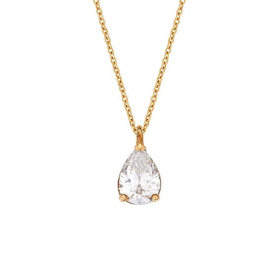 Μενταγιόν Χρυσό Με Ζιργκόν 14Κ 003214 Jewelor