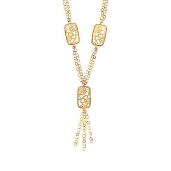 Μοντέρνο Κρεμαστό Διάτρητο Χρυσό 14Κ 003215 Jewelor