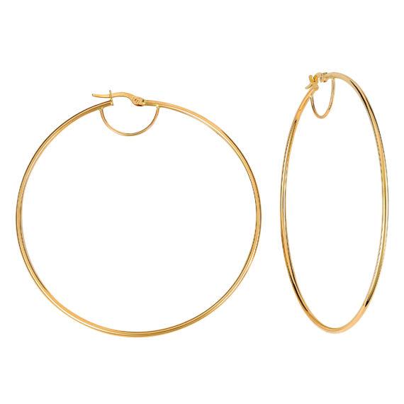 Σκουλαρίκια Κρίκοι Μεγάλα Χρυσά 003217 Jewelor