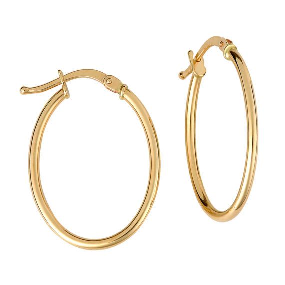 Σκουλαρίκια Κρίκοι Μεγάλα Χρυσά 003227 Jewelor