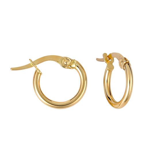 Σκουλαρίκια Κρίκοι Μικρά Χρυσά 003223 Jewelor