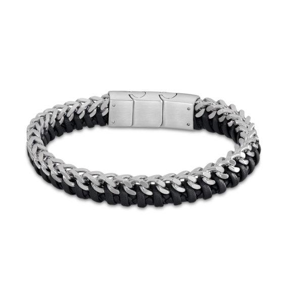 Βραχιόλι Lotus Style Δίχρωμο Δέρμα Και Ατσάλι LS2099 2 1 Jewelor