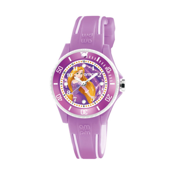 AM PM Rapunzel Purple Rubber Strap Kids' Watch DP186 K471 Jewelor