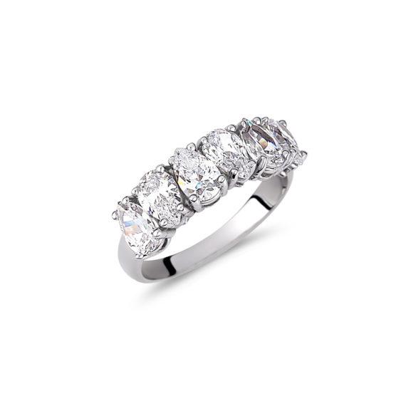 Δαχτυλίδι Σειρέ Λευκόχρυσο Με Ζιργκόν 003234 Jewelor