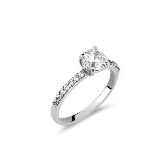 Μονόπετρο Σειρέ Λευκόχρυσο Με Ζιργκόν 003237 Jewelor