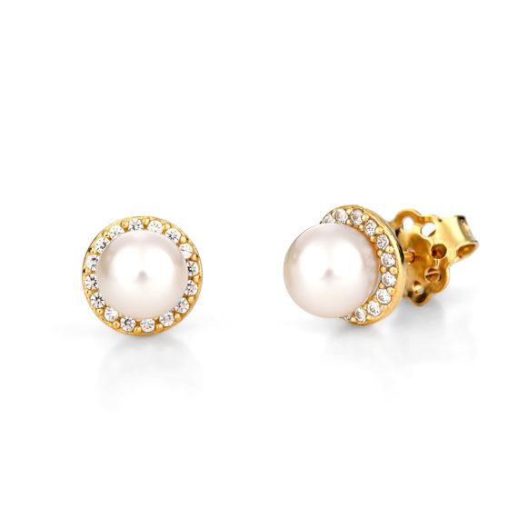 Σκουλαρίκια Χρυσά Με Μαργαριτάρι 003247 Jewelor