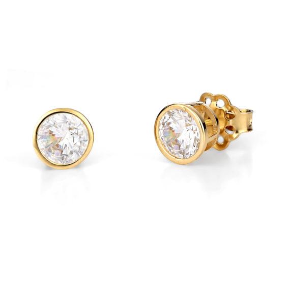 Σκουλαρίκια Χρυσά Με Ζιργκόν 003246 Jewelor