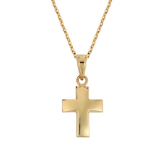 Σταυρός Μικρός Πομπέ Χρυσός 003252 Jewelor