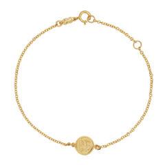 Βραχιόλι Αλυσίδα Ιησούς Χριστός Χρυσό Διπλής Όψης 003239 2 Jewelor