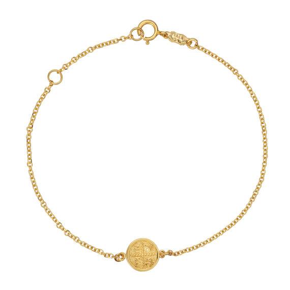 Βραχιόλι Αλυσίδα Ιησούς Χριστός Χρυσό Διπλής Όψης 003239 Jewelor