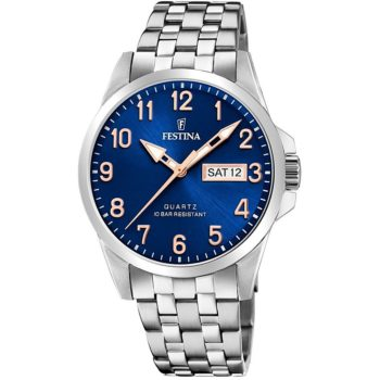 Festina Day Date Blue-Silver Men's Watch F20357/B