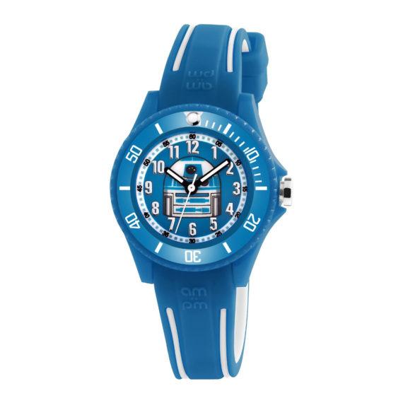 AM.PM Star Wars Blue Rubber Strap Kids' Watch SP190 K559 Jewelor