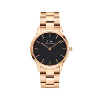 Daniel Wellington Iconic Link Black/Rose Gold Women's Watch DW00100210