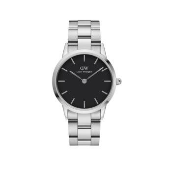 Daniel Wellington Iconic Link Silver/Black Women's Watch DW00100204