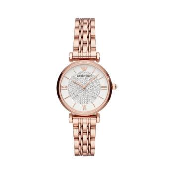 Emporio Armani Ladies Crystals Rose Gold Women's Watch AR11244