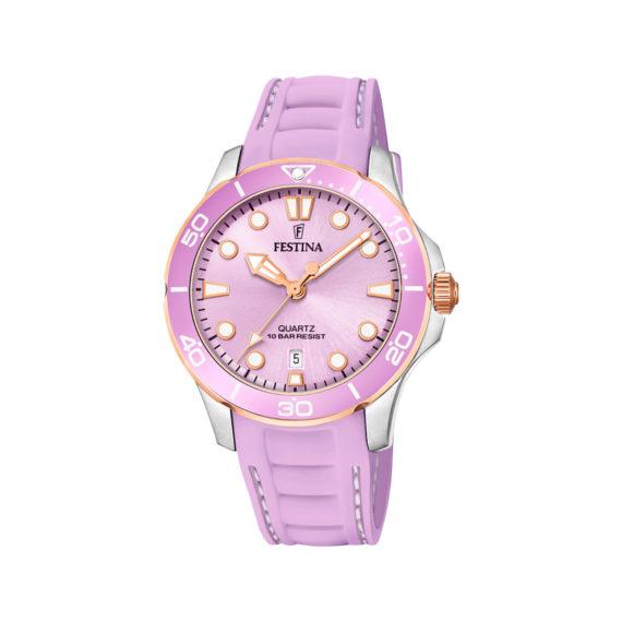 Festina Pink Rubber Strap Women's Watch F20502 3 Jewelor