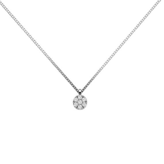 Κρεμαστό Λευκόχρυσο Σφυρήλατο 18K Με Διαμάντι Μπριγιάν 003274 Jewelor