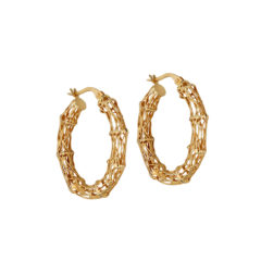 Σκουλαρίκια Πλεκτά Σφυρήλατα Χρυσά 14Κ