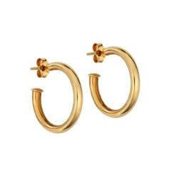 Σκουλαρίκια-Ημικύκλια Χρυσά 14Κ