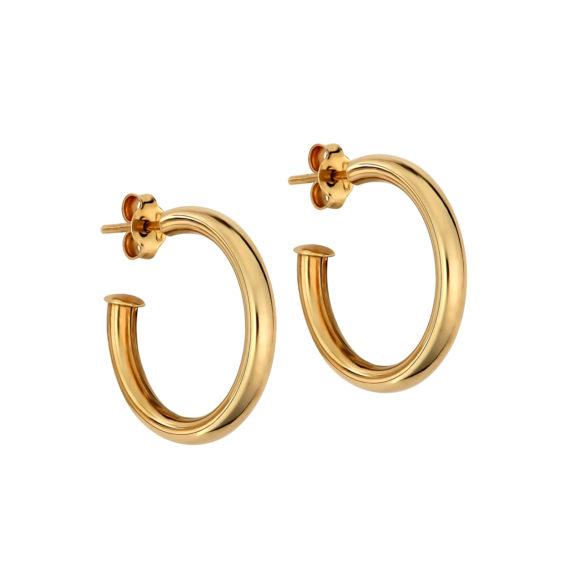 Σκουλαρίκι Ημικύκλια Χρυσά 14Κ 003311 Jewelor