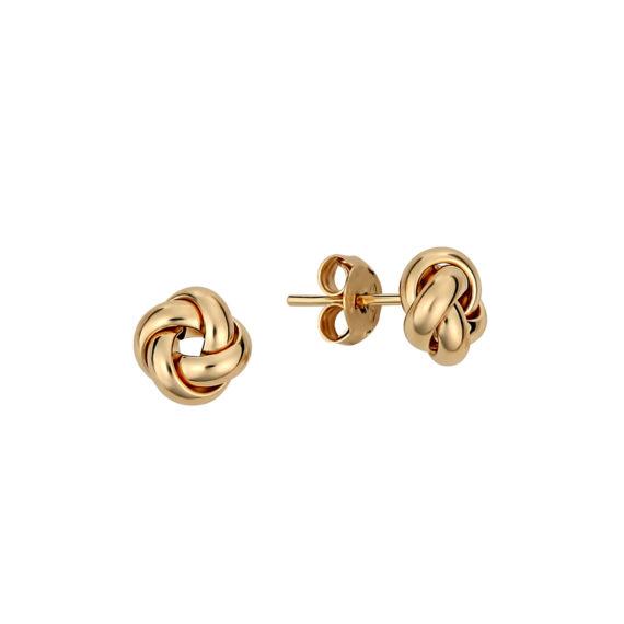 Σκουλαρίκια Μικρά Πλεκτά Χρυσά 14Κ 003312 Jewelor