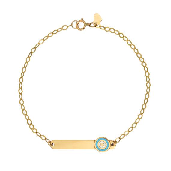 Βραχιόλι Αλυσίδα Χρυσό Με Σμάλτο 14Κ 003288 Jewelor