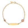 Βραχιόλι Αλυσίδα «Ιησούς Χριστός» Χρυσό Με Ματάκι Από Σμάλτο 14Κ 003304 Jewelor