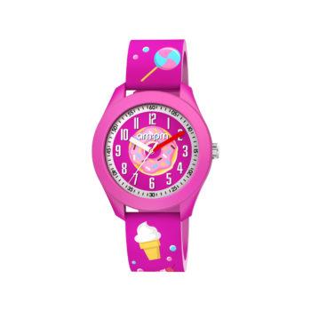 AM:PM Candy Fuchsia Rubber Strap Kids' Watch PM203-K675