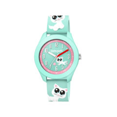 AM:PM Cat Green Rubber Strap Kids' Watch PM203-K666