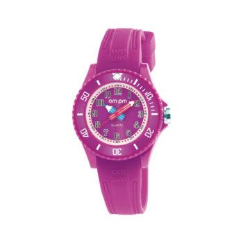 AM:PM Purple Rubber Strap Kids' Watch PM192-K514