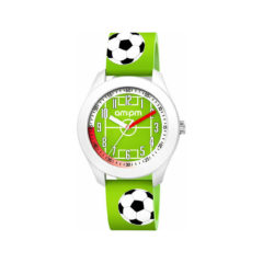 AM:PM Football Green Rubber Strap Kids' Watch PM203-K673