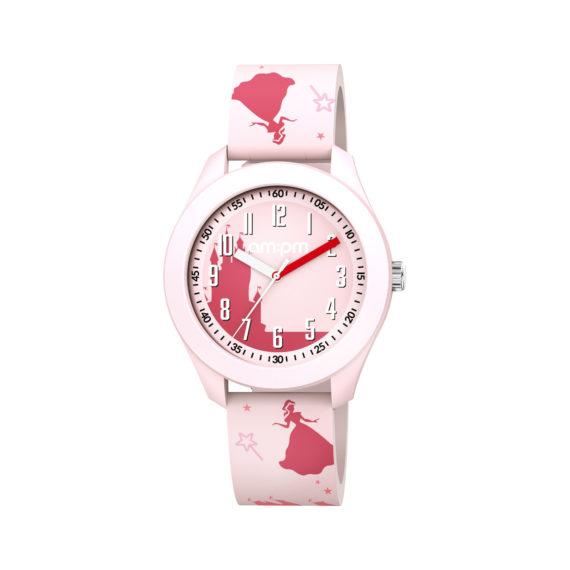 AM PM Princess Pink Rubber Strap Kids' Watch PM203 K669 Jewelor