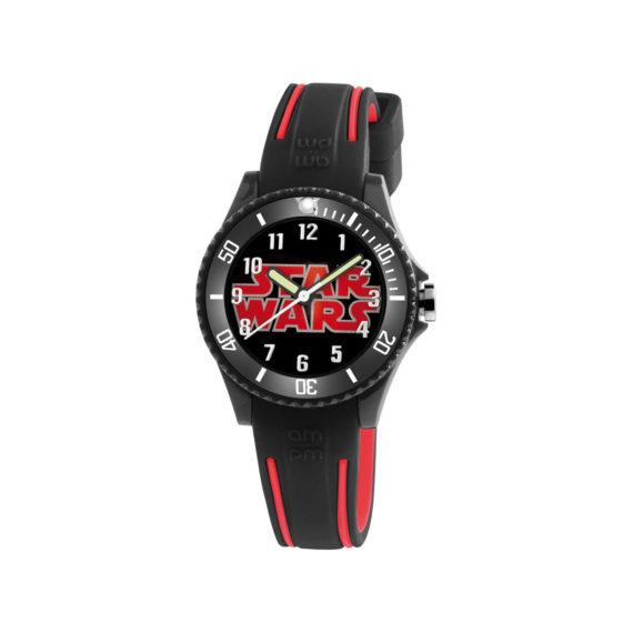 AM PM Star Wars Black Rubber Strap Kids' Watch SP190 K487 Jewelor