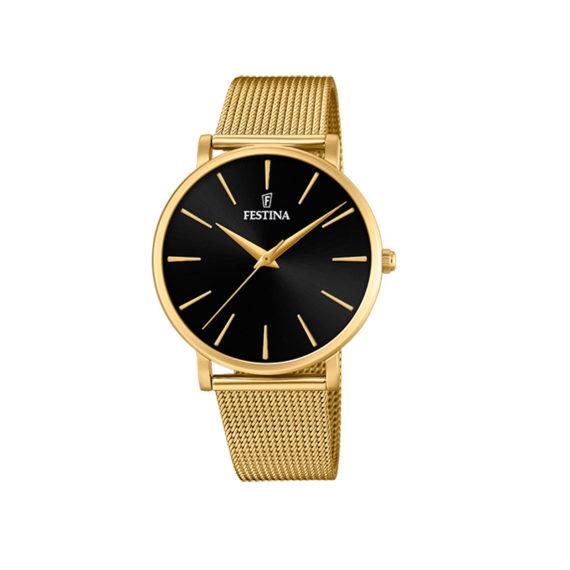 Festina Classic Slim Gold Bracelet Women's Watch F20476 2 Jewelor