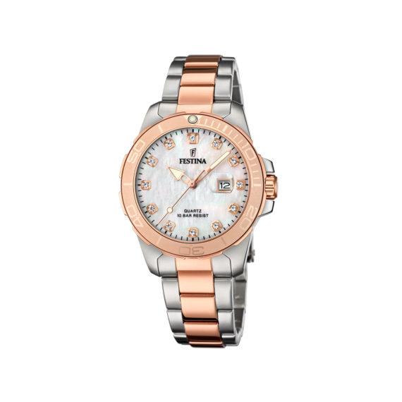 Festina Two Tone Bracelet Women's Watch F20505 1 Jewelor
