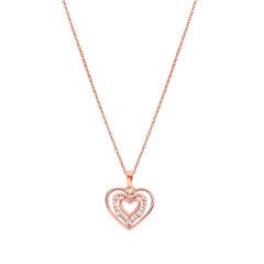 Κρεμαστό Lotus Style Moments Ροζ Χρυσό Ασήμι-Ζιργκόν LP3143-1/3