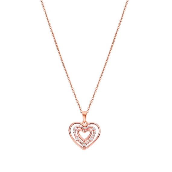 Κρεμαστό Lotus Style Moments Ροζ Χρυσό Ασήμι Ζιργκόν LP3143 1 3 Jewelor