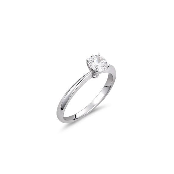 Μονόπετρο Δαχτυλίδι Λευκόχρυσο Με Ζιργκόν 14K 003323 Jewelor
