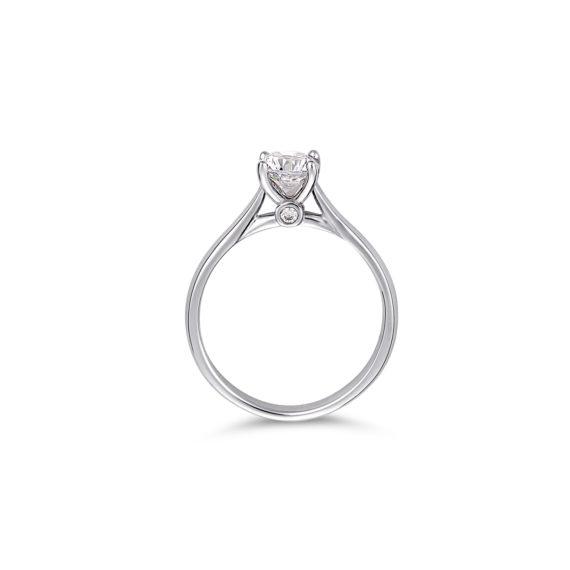 Μονόπετρο Δαχτυλίδι Λευκόχρυσο Με Ζιργκόν 14K 003326[2] Jewelor
