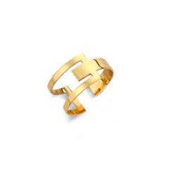 Μοντέρνο Δαχτυλίδι Σεβαλιέ Χρυσό 14K