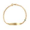 Βραχιόλι Αλυσίδα Χρυσό Με Ματάκι 14Κ 003332 Jewelor