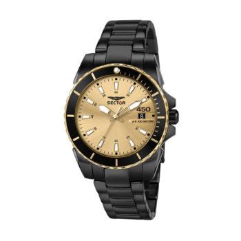 Sector 450 Black-Gold Men's Watch R3253276007