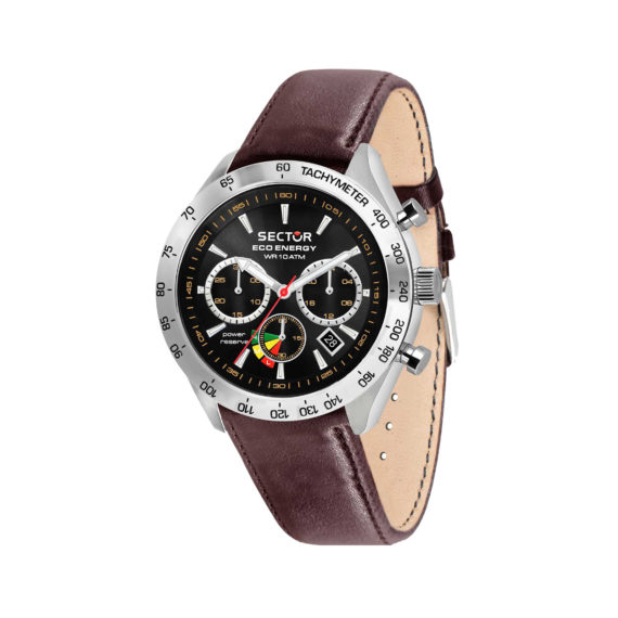 Sector 695 Solar Silver Brown Chronograph Men's Watch R3253240009 Jewelor