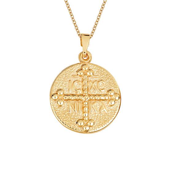 Φυλαχτό Ιησούς Χριστός Ανάγλυφο Χρυσό 14Κ 003411 Jewelor