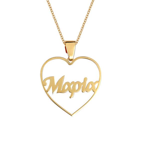 Μενταγιόν Μαρία Διάτρητο Χρυσό 14Κ 003402 Jewelor