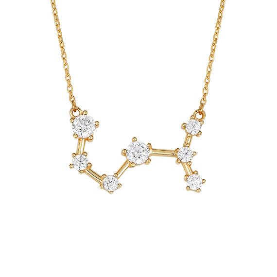 Μοντέρνο Κρεμαστό Χρυσό Με Ζιργκόν 14Κ 003412 Jewelor