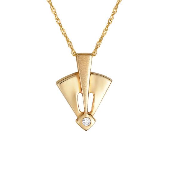 Μοντέρνο Κρεμαστό Χρυσό Με Ζιργκόν 14Κ 003451 Jewelor